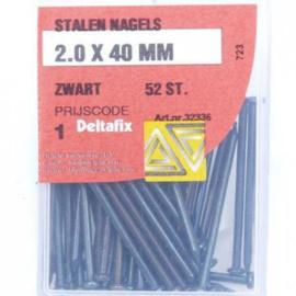 Stalen nagels - 2.0 x 40 MM zwart