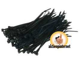 Tie Ribs 2.5 X 100 mm Zwart (100 stuks)
