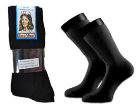 Zuster sokken zwart 4 paar  35-38