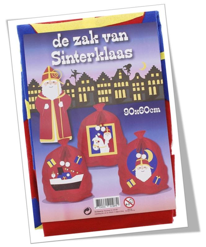 Cadeauzak  - Uitdeelzak Sinterklaas - 90x60