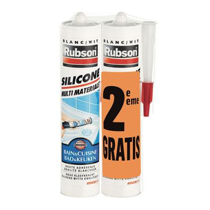Rubson silicone multi-materialen duopack 2 x 280 ml