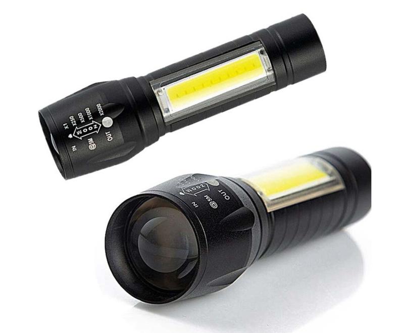 Mini zaklamp COB 2-in-1 oplaadbaar 400 mAh