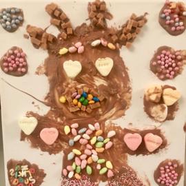 Schilderen met chocolade