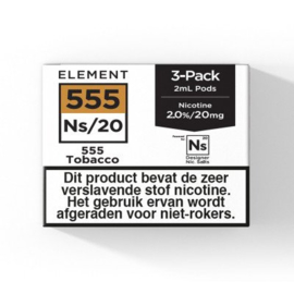 Element - Tobacco NS20 3-pack pods