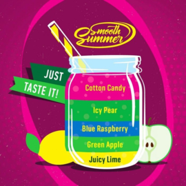 Juicy Lime - Green Apple - Blue Raspberry - Icy Pear - Cotton Candy