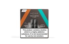 Hexa V2.0 Pods Tobacco Menthol - Nicotine Salt