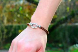 Paardenhaar armband rond