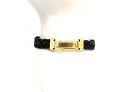 Paardenhaar armband goudkleurig