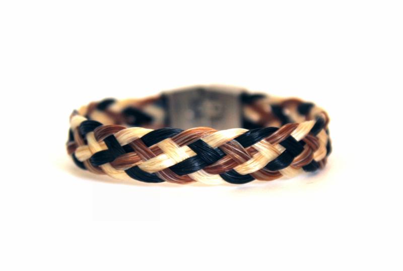 Paardenhaar armband RVS