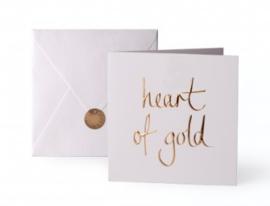 Wenskaart - 'Heart of Gold'