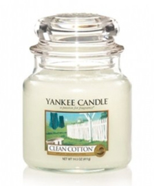 Yankee Candle - Clean Cotton Medium Jar