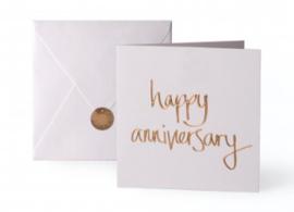 Wenskaart - 'Happy Anniversary'