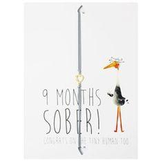 Wenskaart met armband - 9 months sober!
