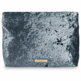 Velvet Pochette - Crushed Blue