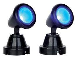Round Spot Light, Blue, Set Of 2