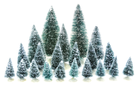 21 Pc Assorted Pine Trees