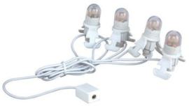 Four LED Light Bulb String