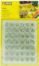 Noch 07038 Graspollen Mini-Set XL, Bloeiend, Wit