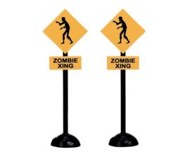 Zombie Crossing, Set Of 2