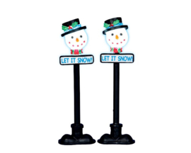 Snowman Street Lamp, Set Of 2