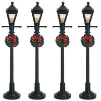 4 Gas Latern Street Lamp, Set Of 4