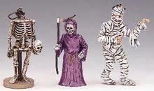 Halloween Tree Decorations, Set Of 3