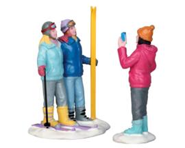 Ski Trio, Set Of 2