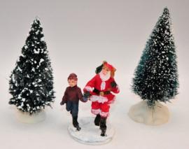 Kerstman met jongen
