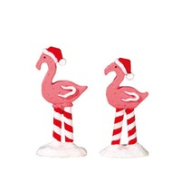 Pink Flamingo's, Set Of 2