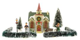 10 Piece Lighted Village Set