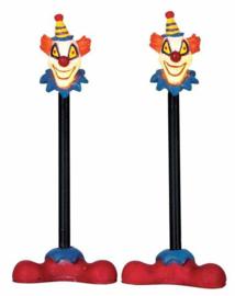 Killer Clown Lamp Post, Set Of 2