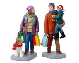 Holiday Shoppers, Set Of 2 - NEW 2021