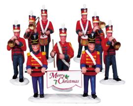 Christmas Parade Marching Band, Set Of 8