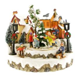 Kerstdecoratie met verlichting