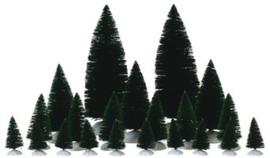 12-PC Assorted Fir Trees