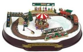 Mr. Christmas Animated Musical Going Home for the Holidays Carousel Train