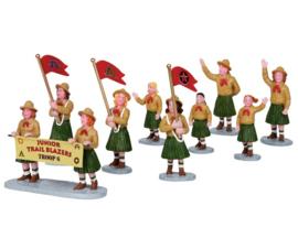 Girl Scoutparade, set of 9