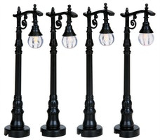 Antique Street Lamp, Set Of 4