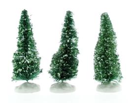 Snowy Juniper Tree, Small, Set Of 3
