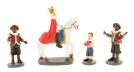 Sinterklaas te paard met 2 pieten