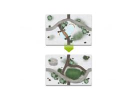 My Village grondplaat Dubbelzijdig - Weiland / Vijver 59X39cm