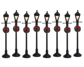 Gas Lantern Street Lamp, Set Of 8