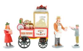 Popcorn Seller, Set Of 4