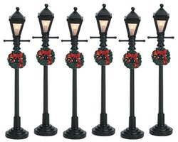 4'' Gas Latern Street Lamp, Set of 6