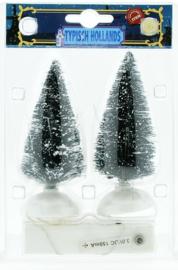 Setje kerstbomen