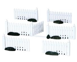 Plastic Picket Fence, Set Of 7