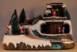 Lighted Christmas Scene