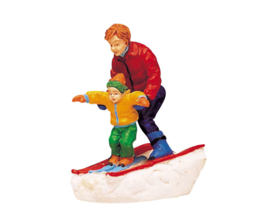 Father & Son Skiing