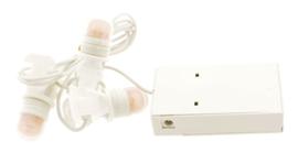 Set 3 led lampjes met batterijadapter - 4.5v