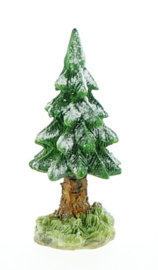 Village Snowy Evergreen Trees Small